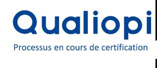 Logo qualiopi processus en cours de certification